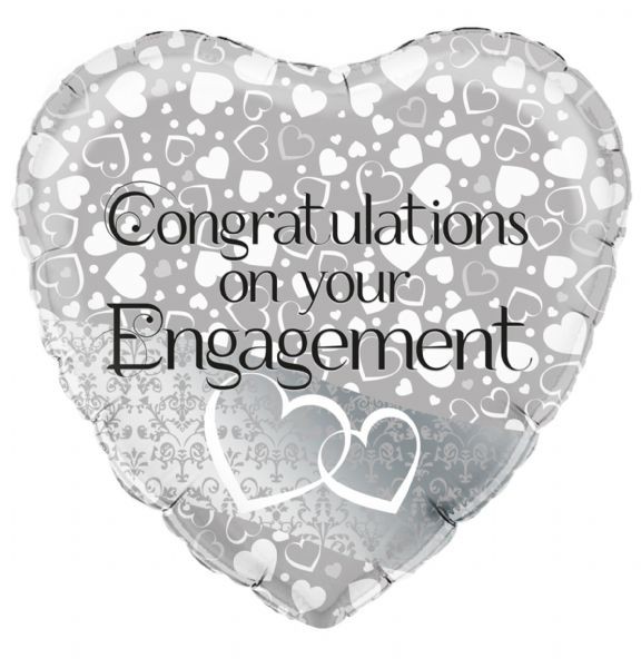 Entwined Hearts Engagement Foil Balloon
